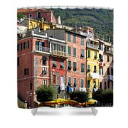 Colorful Vernazza Shower Curtain