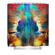 Colorful Water Color Painting Shower Curtain
