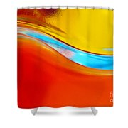 Colorful Wave Shower Curtain