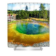 Colorful Yellowstone Shower Curtain
