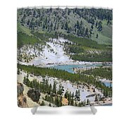 Colorful Yellowstone Valley Shower Curtain