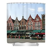 Colors Of Brugge Shower Curtain