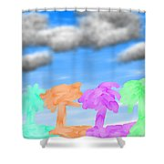 Colors Of The Palms Shower Curtain