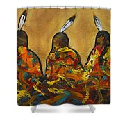 Colors Of Three Shower Curtain