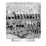 Colosseum In Rome Itlay - Interior - C 1904 Shower Curtain