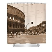 Colosseum In Sepia Shower Curtain