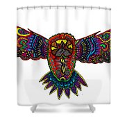 Coloured Owl Shower Curtain