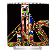 Colourful Geometry Shower Curtain
