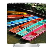 Colourful Punts Shower Curtain