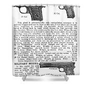Colt Automatic Pistols Shower Curtain