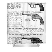 Colt Revolvers Shower Curtain