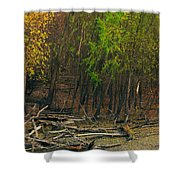 Columbia Bottoms Slough Shower Curtain