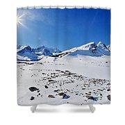 Columbia Icefield In Winter, Jasper Shower Curtain