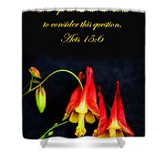 Columbine And Acts 15 16 Shower Curtain