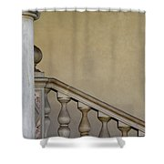 Column And Stairway At Wawel Castle In Krakow Poland Shower Curtain