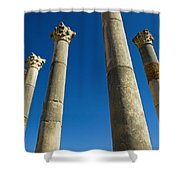 Column In Capitol In Ancient Roman City Shower Curtain