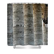 Columns And Hanging Lamp Shower Curtain