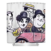 Comedians In Model T Shower Curtain