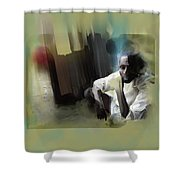 Comfort Squat Shower Curtain
