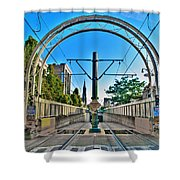 Coming And Going Downtown Main St Shower Curtain