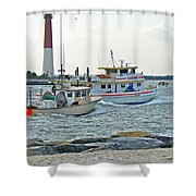Coming Home - Barnegat Inlet Nj Shower Curtain