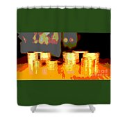 Coming Up Gold Shower Curtain