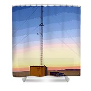 Command Center Shower Curtain