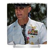 Command Master Chief Bryan Yarbro Shower Curtain