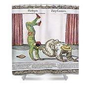 Commedia Delarte, 18th C Shower Curtain