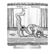 Commedia Dellarte Shower Curtain