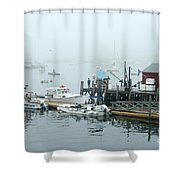 Commercial Lobster Dock Shower Curtain
