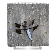Common White Tail Dragonfly Shower Curtain