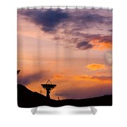 Communication To Space  Shower Curtain