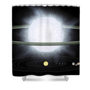 Comparison Of The Size Of A Hypergiant Shower Curtain