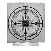 Compass In Black And White Shower Curtain
