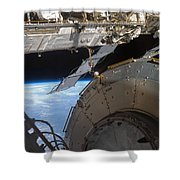 Components Of The International Space Shower Curtain by Stocktrek Images