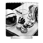 Components Of The Mercury Spacesuit Shower Curtain