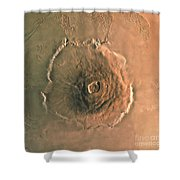 Computer-enhanced Image Of Olympus Shower Curtain