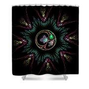 Computer Generated Flower Abstract Fractal Flame Modern Art Shower Curtain