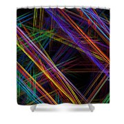 Computer Generated Lines Abstract Fractal Flame Modern Art Shower Curtain