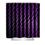 Computer Generated Magenta Abstract Fractal Flame Black Backgroud Shower Curtain