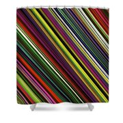 Computer Generated Stripe Abstract Fractal Flame Black Background Shower Curtain