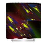Computer Generated Triangles Abstract Fractal Flame Abstract Art Shower Curtain