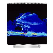 Computer Model Of Global Ocean Currents Shower Curtain