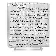Conan Doyle: Letter Shower Curtain