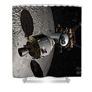 Concept Of The Orion Crew Exploration Shower Curtain