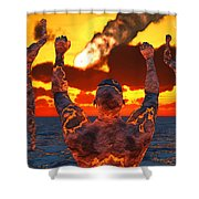 Conceptual Image Based On The Myths Shower Curtain