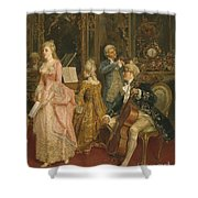 Concert At The Time Of Mozart Shower Curtain by Ettore Simonetti