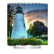 Concord Point Lighthouse 2 Shower Curtain