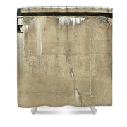 Concrete And Metal Shower Curtain